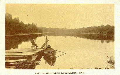 Postcards -- Lake Medad, Near Burlington