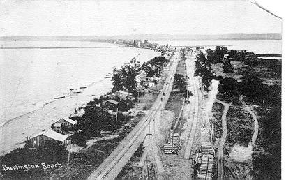Postcards -- Burlington Beach, aerial view