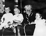 Bullock Family -- Nora Bullock with Grandchildren Michael Bullock, Paul Paterson, Darlene Robinson