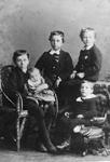 Filman Family -- The Filman Boys, (L-R): William, Ernest (baby), George, Walter, Arthur (bottom right)