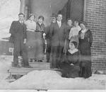 Filman Family -- Mr. V. Kerns, Miss Dell Filman, Mrs. R. Emery, Mr. J. Filman, Mr. & Mrs. Chas. Jarvis, Mrs. John Filman, Mrs. L. Kerns, Irene Filman