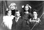 Hopcott Family -- (L-R): Doris, Douglas, James , Elsie and Mary