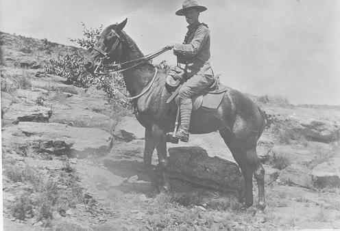Mann Family -- Henry Mann, in cavalry for Boer War
