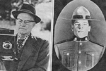 Hayward Family -- Bill Hayward in 1960s (left) and at turn of century as Northwest Mounted Policeman in Yukon
