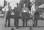 Aldershot Bowling Club -- W.H. Scheer, A. McCay, H. Stevenson, W. Corp; taken at Roselawn