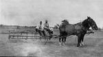 John Dudley Williamson -- Gordon Cross and Frank on hay tedder