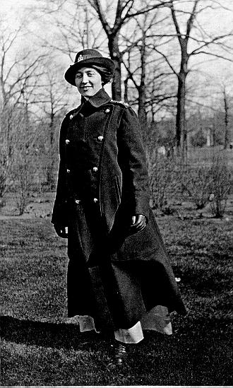 John Dudley Williamson -- Annette Fields, JDW's cousin, in nurse's uniform (?), 1916
