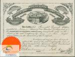 A stock certificate for Hannibal Burwell (Estate) from the Haggert Brothers Manufacturing Company, Brampton