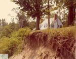 Erosion on Port Stanley hillside