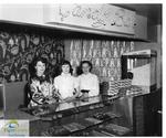 Three Candy Bar employees at the Roxy Theatre, Port Stanley