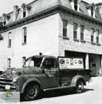 St. Thomas Fire Department Engine No. 4 in front of the Southwick Street Fire Hall, ca. 1965