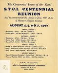 STCI Centennial Reunion Programme and newspaper advertisement