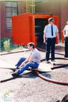 Canadian Timken Limited, St. Thomas: Employees training on safety equipment, ca. 1985
