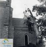 Installation of St. George's Anglican Church bell at Belmont United Church