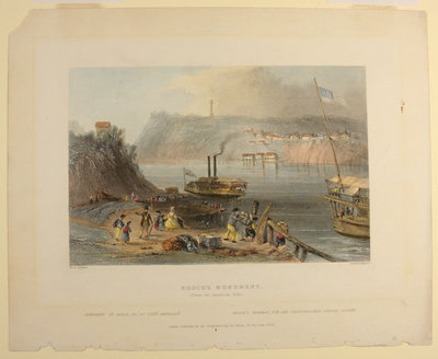 Brock's Monument (From the American Side). By Charles Richardson