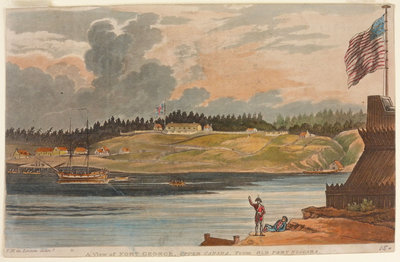 A View of Fort George, Upper Canada, from Old Fort Niagara.