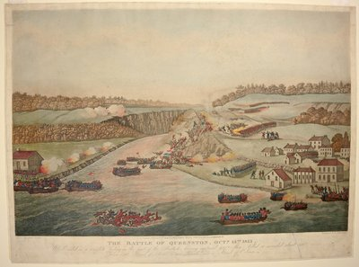 The Battle of Queenston Heights October 13th 1813. By Thomas Sutherland