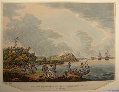 Storming Fort Oswego, Lake Ontario, North America, May 6th 1814. By Robert Havell and Son