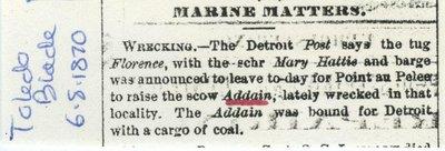ADDAIN (1847, Scow Schooner)