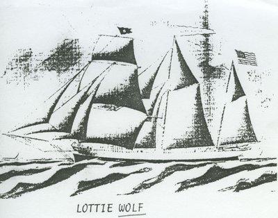 WOLF, LOTTIE (1866, Barkentine)