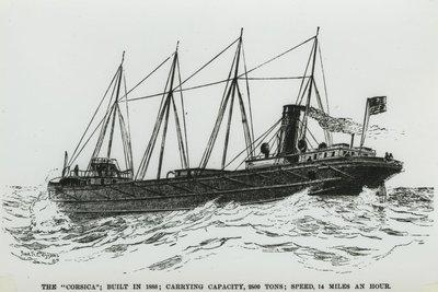 CORSICA (1888, Bulk Freighter)