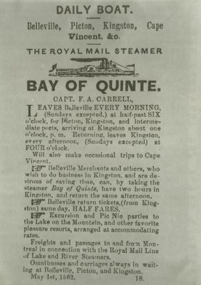 BAY OF QUINTE (1853, Steamer)