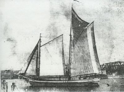 RED, WHITE AND BLUE (1887, Schooner)
