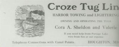 SHELDON, CORA A. (1883, Tug (Towboat))