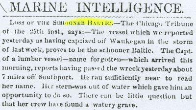 BALTIC (1842, Schooner)