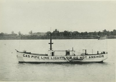 GAS PIPE LINE LIGHTSHIP (pre 1894, Scow)