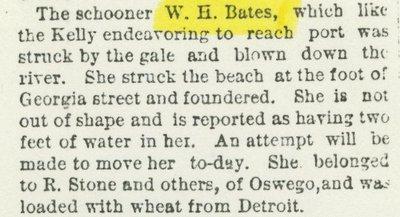 BATES, WILLIAM N. (1866, Scow Schooner)