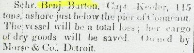 BARTON, BENJAMIN (1835, Schooner)
