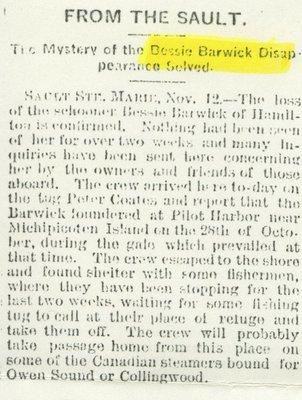 BARWICK, BESSIE (1866, Barkentine)