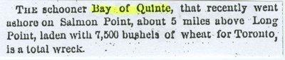 BAY OF QUINTE (1853, Schooner)