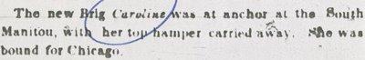 CAROLINE (1848, Brigantine)