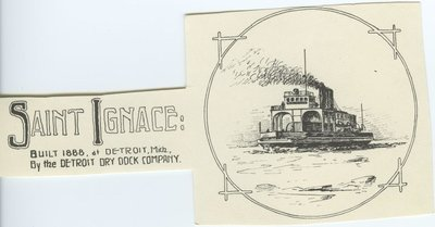 ST. IGNACE (1888, Car Ferry (Rail Ferry))