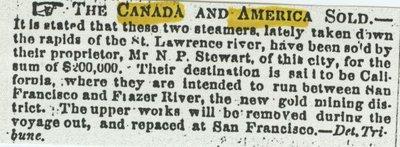 CANADA (1854, Steamer)