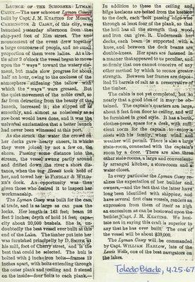 CASEY,  LYMAN (1867, Schooner)