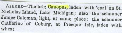 CANOPUS (1855, Brigantine)