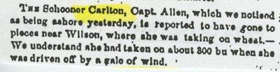 CARLTON (1845, Schooner)
