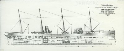 SARANAC (1890, Package Freighter)