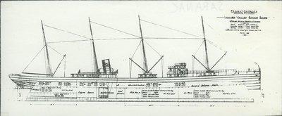 SARANAC (1890, Package Freighter)