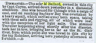 BALLARD, M. (1855, Schooner)