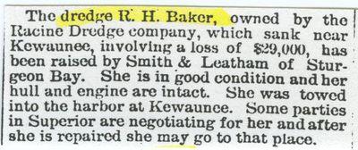 BAKER, R. H. (pre1890, Dredge)