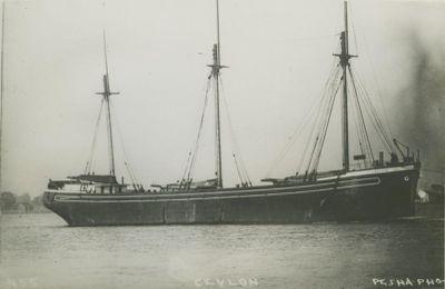 CEYLON (1891, Schooner)