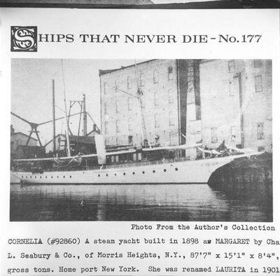 MARGARET (1898, Yacht)