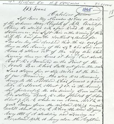 MARY ELIZABETH (1844, Schooner)