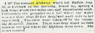 ALABAMA (1849, Passenger Steamer)