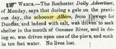 ALBION (1848, Schooner)