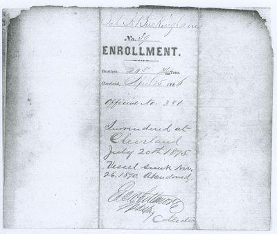BUCKINGHAM, A. (1853, Schooner)